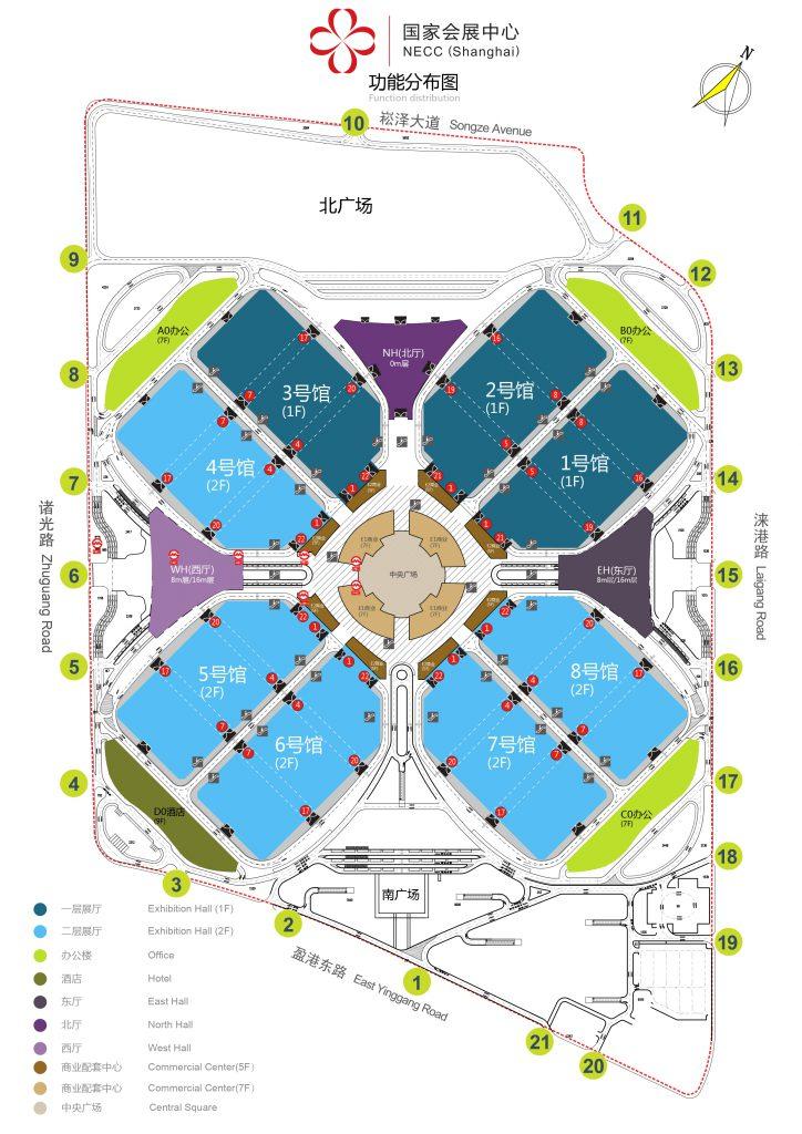 交通路线-上海空气新风展 AIRVENTEC CHINA 2022.6.8-10新风系统 通风设备 空气净化